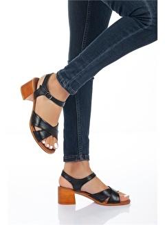 MODAGON Barcelona Hakiki Deri Sandalet 5001
